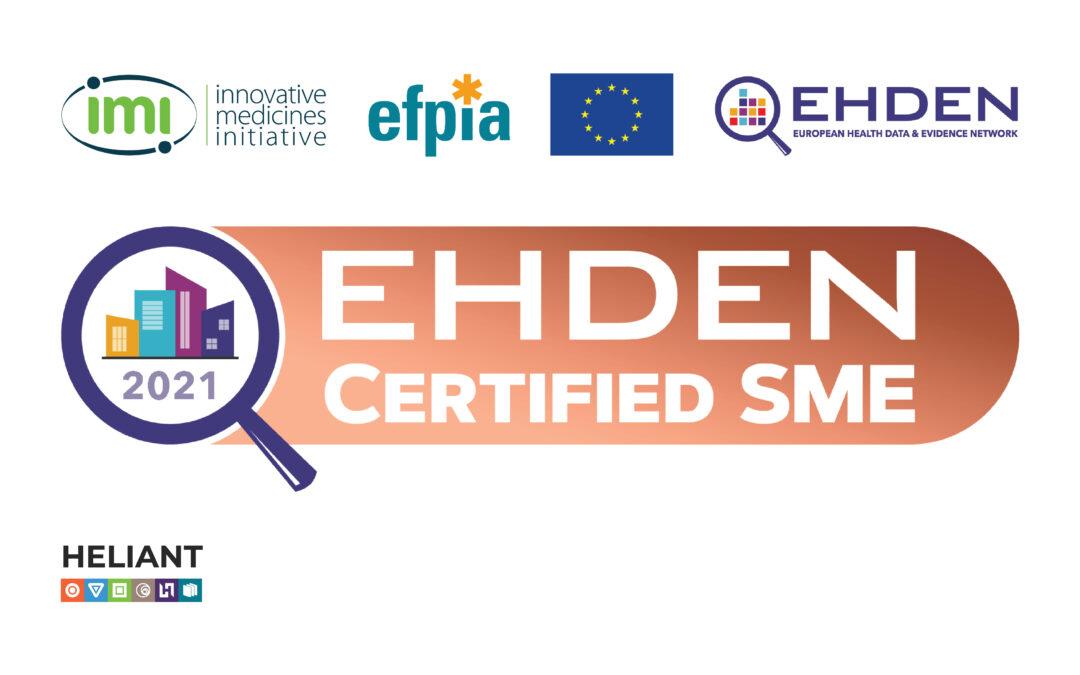 Kompanija Heliant je nosilac EHDEN sertifikata